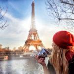 tourist enjoying Paris