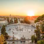 Piazza del Popolo at sunset